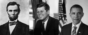 Lincoln, Kennedy, Obama