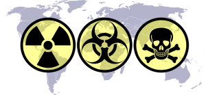 World Map with WMD symbols